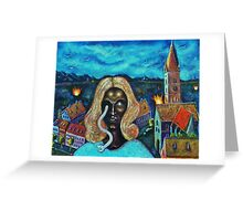 The Angel of Death Has Snake Eyes Greeting Card
