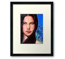 Diosa del mar Framed Print