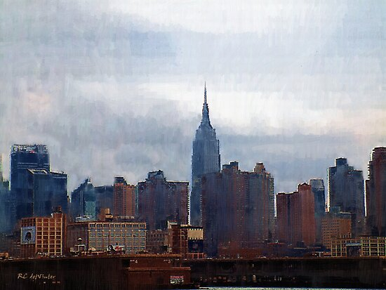 Skyline In Blues and Browns by RC deWinter