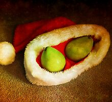 Santa pear by Amy Herrfurth