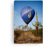 Hot Air Balloon Flight over the Lush Arizona Desert Canvas Print
