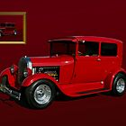 1929 Ford Model A Sedan Hot Rod by TeeMack