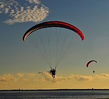 Power Paragliding  Over the Water by joevoz