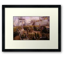 The 52nd Lowland at Cherbourg 1940 Framed Print