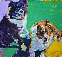 ''woof woof' or 'good morning' if your'e not a dog'  commissioned by Cat Leonard
