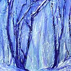 Wintry Woods iPhone case by Ruth S Harris