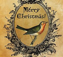 Christmas Robin Card by babibell