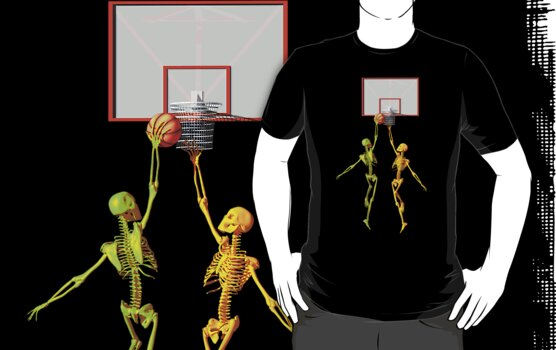 Skeleton basketball  by Carol and Mike Werner