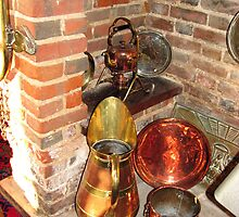Antique Copper Utensils - Ye Olde White Hart Hotel by BlueMoonRose