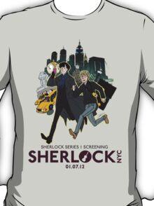 Sherlock NYC - SCREENING - Day (Purple Logo) T-Shirt