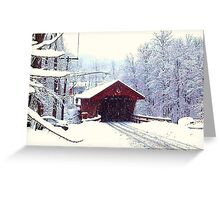 WINTER IN UPSTATE NEW YORK Greeting Card