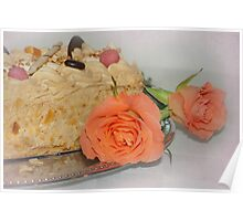 Cake and roses  Poster