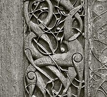 "Viking Age  typical animal-ornamentation, the so called ""Urnes style"" of animal-art. Urnes Stave Church (Norwegian: Urnes stavkirke).   North portal deatail. by Brown Sugar. Views (186) Favs (2)  Thx! by AndGoszcz"