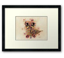 little flower owl Framed Print