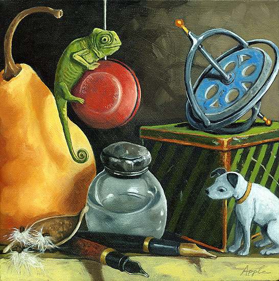YoYo - Still Life Oil Painting by LindaAppleArt