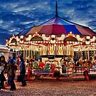 Carousel at the Christmas Market, Toronto, ON, Canada by Gerda Grice