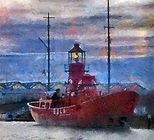 Lightship Sula, Dusk, Gloucester Docks, UK by buttonpresser