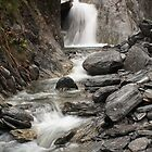 Waterfall at Franz Joseph Glacier by Mark Bird