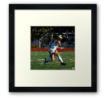 100511-085- 0 p & ink-field hockey Framed Print