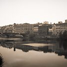 Florence on the River Arno Italy by grorr76