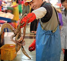 Fishmonger with Octopus by Jane McDougall