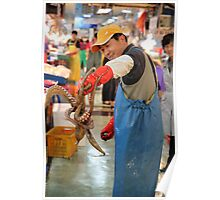 Fishmonger with Octopus Poster