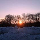 Fire and Ice, Sunrise over the Snow by Jane Neill-Hancock