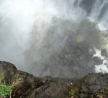 Looking down from the precipice at the Victoria Falls, Zambia, Africa by Irene  van Vuuren