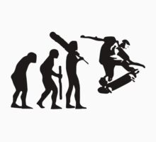 evolution of skateboard t-shirt by parko