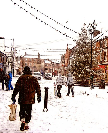 Ormskirk Town Centre - Snowing by Liam Liberty