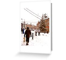 Ormskirk Town Centre - Snowing Greeting Card