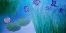 Water irises by Holly Martinson