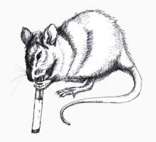 smoking rat by chikapop