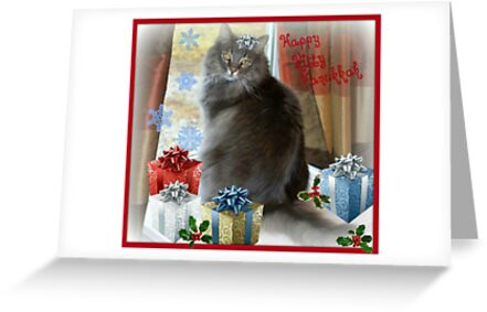 Happy Hanukkah Kitty by Sheryl Gerhard