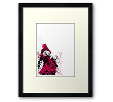 Techno Flamenco - Chill Out. WhiteNoise Framed Print