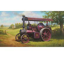 Old traction engine Photographic Print