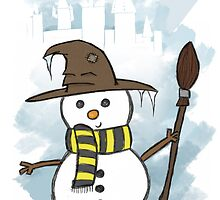 Hufflepuff Christmas Card by Jess Nixon