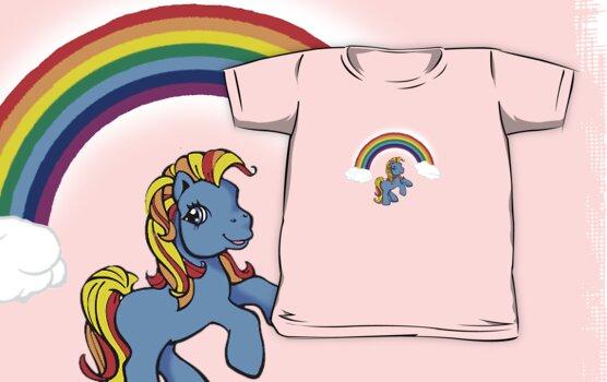 Rainbow Pony by Bami