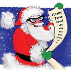 Kazart Santa Geek Christmas Card by Karen Sagovac