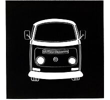 VW Bay Linocut print (2011) by Richard Yeomans