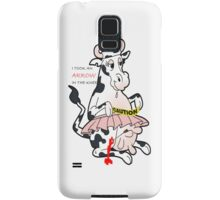 crazy cow Samsung Galaxy Case/Skin