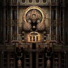 Infernal Steampunk Machine #3 iPhone case by Steve Crompton