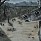 Australian Bush Scene (tinted charcoal) by gogston