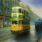 Glasgow tram in Sauchiehall Street by Mike Jeffries