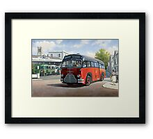 Midland Red C1 coach. Framed Print