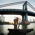 Yoga by Manthattan Bridge, Brooklyn New York by Wari Om  Yoga Photography