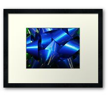 Big Blue Bow Framed Print