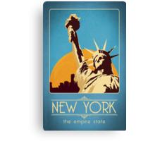 Retro New York Travel Poster Canvas Print