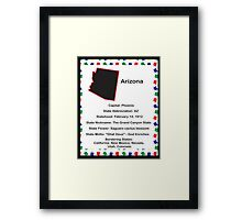 Arizona State Fact Poster Framed Print