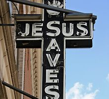 Jesus Saves Sign by Chris  Bradshaw
